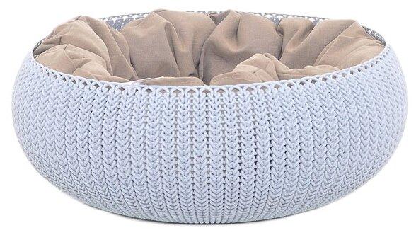 Лежак для кошек, для собак CURVER Knit Cozy Pet Bed 54х54х20.2 см