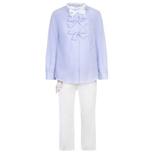 Комплект одежды Simonetta размер 174, белый/голубой платье simonetta размер 174 черный