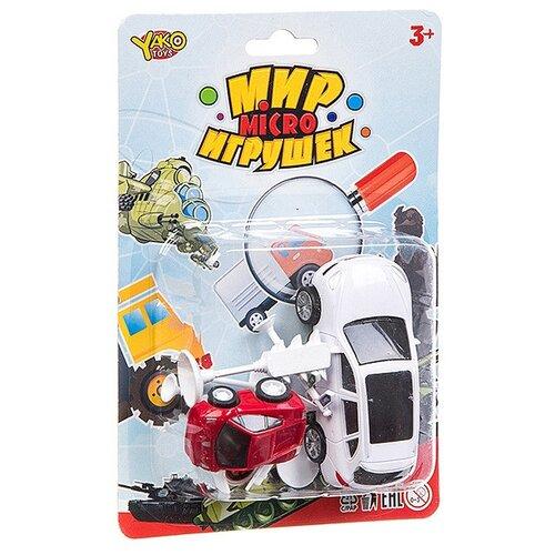 Фото - Набор машин Yako Мир micro Игрушек (B94376) белый/красный набор машин yako мир моих игрушек m7558 1 белый