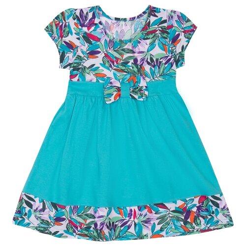 Платье ALENA размер 98-104, бирюзовый