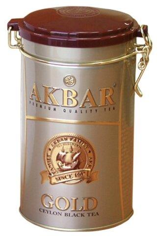 Чай черный Akbar Gold подарочный набор, 225 г