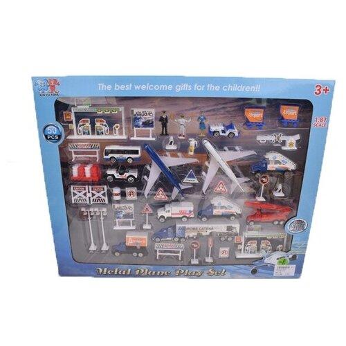 Транспорт металлический инерция Городская спецтехника 50 деталей, в коробке 57,5*4,5*45 см. машинка спецтехника инерция подвижные элементы в пакете 14 5 7 25 5 см