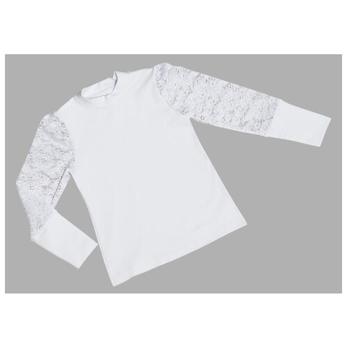 Блузка ALENA размер 116-122, белый свитшот alena размер 116 122 белый