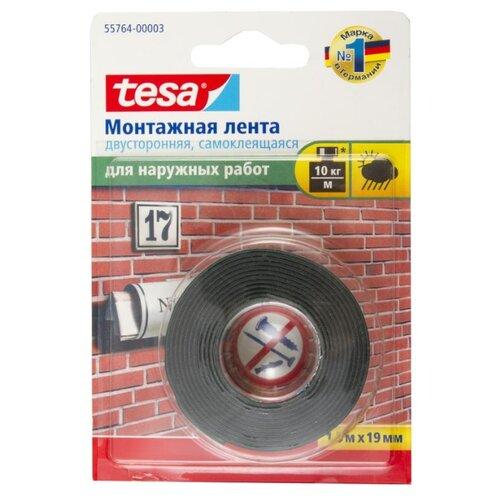 Фото - Клейкая лента монтажная Tesa 55764, 19 мм x 1.5 м клейкая лента малярная tesa 55592 36 мм x 50 м