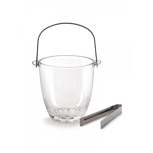 Ведерко для льда Briverre BR1505 с щипцами прозрачный/серебристый
