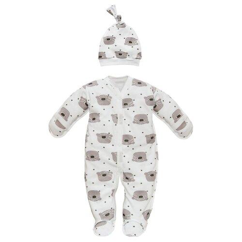Купить Комплект одежды Amarobaby размер 56, белый, Комплекты