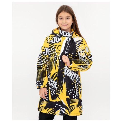 Пальто Button Blue 120BBGA45010813/120BBGA45010007 размер 122, желтый