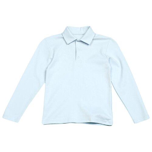 Купить Поло Снег размер 152, голубой, Футболки и майки