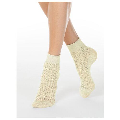 Фото - Носки Conte Elegant Ajour 19С-186СП 180, размер 23, кремовый носки conte elegant comfort 19с 101сп размер 23 темно бордовый