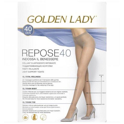 Колготки Golden Lady Repose 40 den, размер 5-XL, playa (бежевый) колготки golden lady repose 40 den размер 5 xl natural бежевый