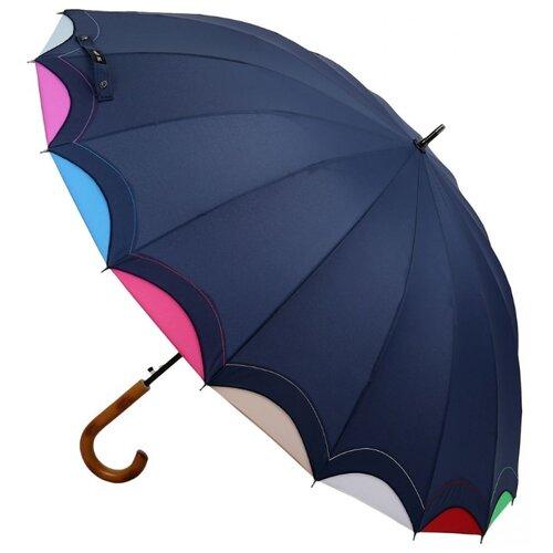 Фото - Зонт-трость полуавтомат Три слона 1100 синий зонт трость полуавтомат три слона 1100 бордовый