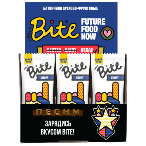 Фруктовый батончик Bite Box Спорт без сахара Арахис и банан, 20 шт