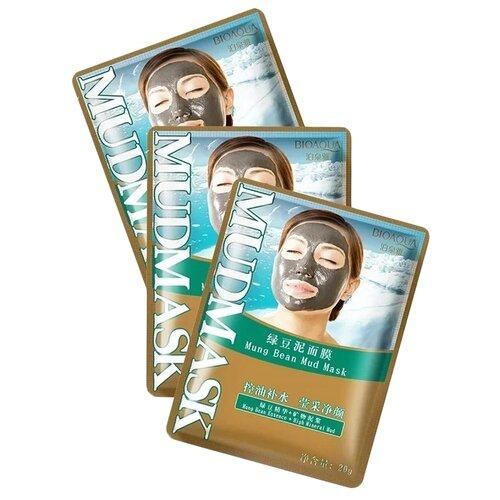 BioAqua Очищающая грязевая маска для лица с бобами Мунг, 20 г, 3 шт. маска для лица bioaqua bioaqua bi025lwdjge1