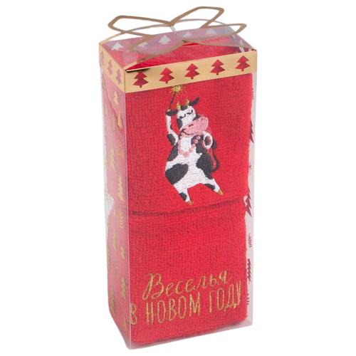 Этель набор полотенец Веселья в Новом году красный