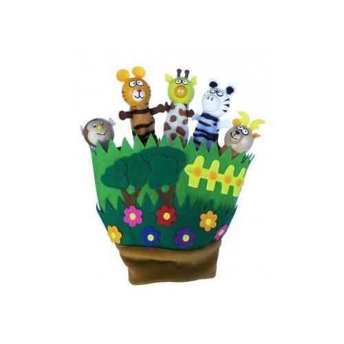 Купить Деревянная игрушка Кукольный театр. Зверята на полянке , Рыжий кот