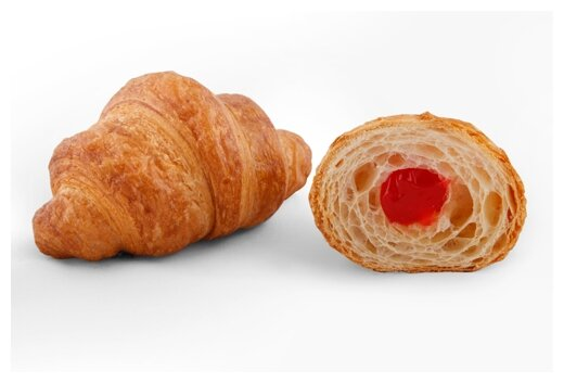 ЕвроХлеб Круассан Клубника европейский хлеб, 3 шт. по 90 г