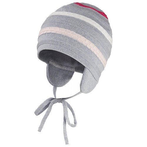Шапка Oldos Исора размер 46-48, серый/розовый