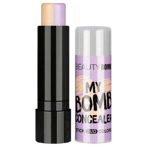 BEAUTY BOMB Консилер стик двухцветный My Bomb Concealer Stick Duo Colors, оттенок 02
