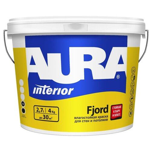 Краска акриловая Aura Interior Fjord влагостойкая матовая белый 2.7 л