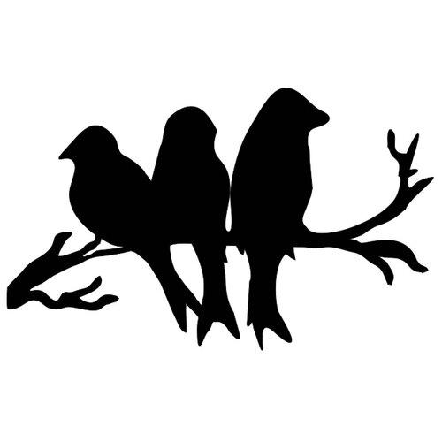 Наклейка на выключатель DS Studio Птички-семья, объемная