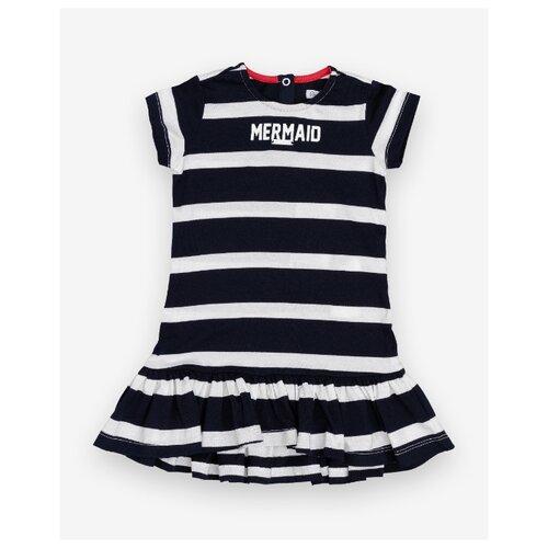 Платье Gulliver Baby размер 74, синий/полоска