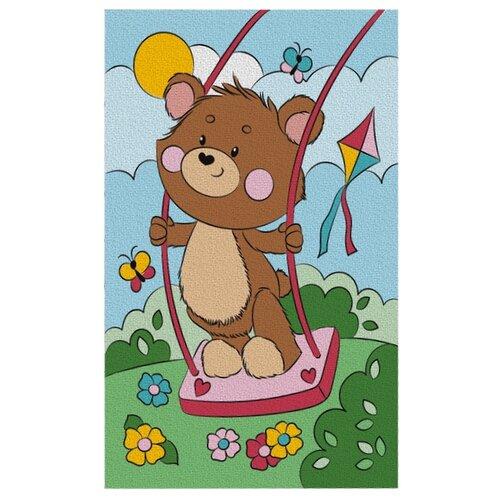 Школа талантов Картина по номерам Медвежонок на качели 20х30 см (4583522)
