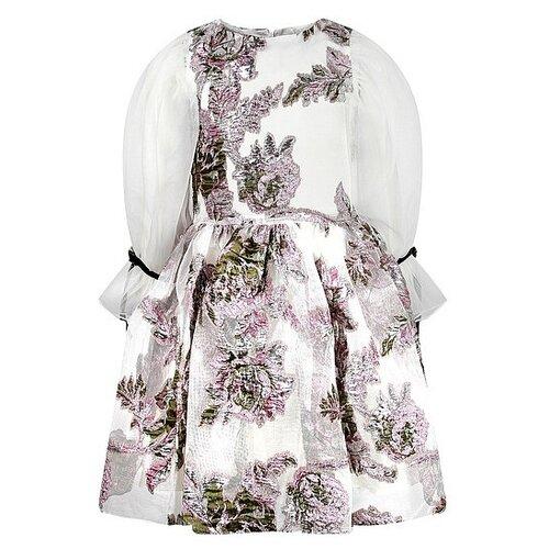 Платье David Charles размер 146, белый/розовый/цветочный принт