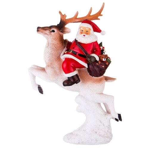 Фигурка Lefard Санта Клаус 146-998 белый/красный/коричневый фигурка lefard снеговик 787 179