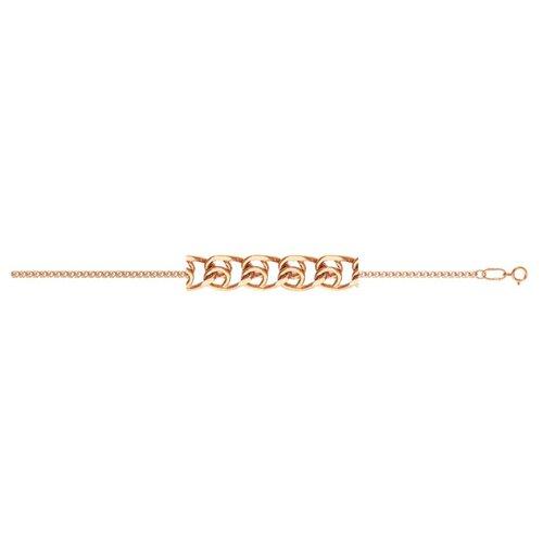 АДАМАС Браслет золотой плетения LOVE БЛ130А2-А51, 18 см, 1.05 г