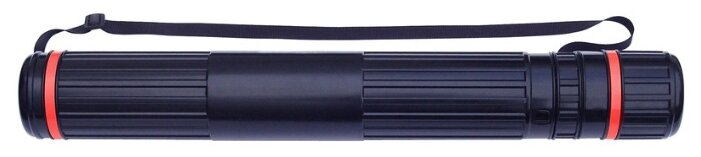 Тубус телескопический №1 School (D=90мм, L=630-1100мм) черный, на ремне