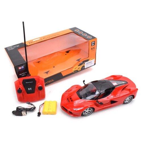 Купить Гоночная машина Наша игрушка 575-10ABC 26.5 см красный/черный, Радиоуправляемые игрушки