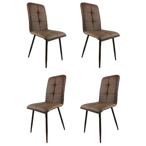 Комплект стульев (4 шт.), СтолБери, Пежо, коричневый