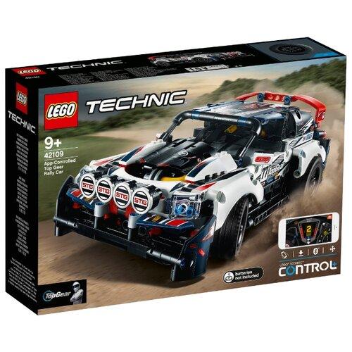 Электромеханический конструктор LEGO Technic 42109 Гоночный автомобиль Top Gear на управлении конструктор lego technic гоночный автомобиль 1005 элементов