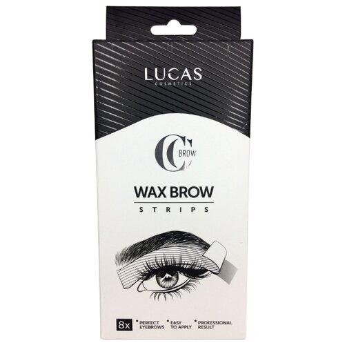 CC Brow восковые полоски Wax brow strips для коррекции бровей 8 шт.