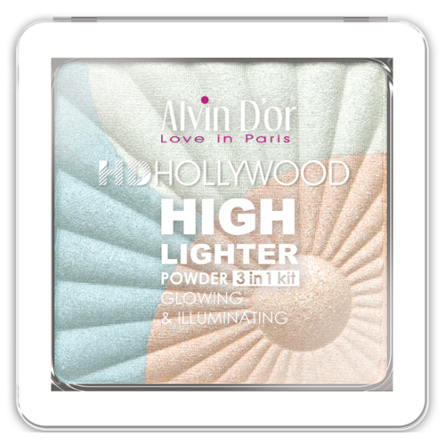 Фото - Alvin D'or Хайлайтер Hd Hollywood Glow Illuminating 3 in 1 kit тон 01 alvin d or пудра скульптурирующая hd hollywod тон 02
