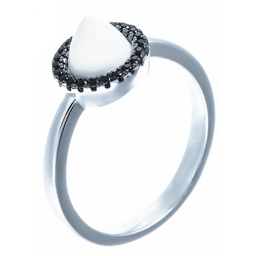 ELEMENT47 Кольцо из серебра 925 пробы с пластиком ML12462B-KO-001-WG, размер 17.25