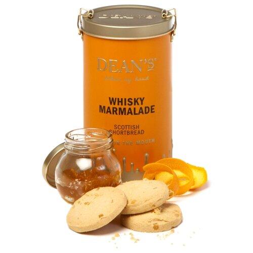 Печенье Dean's Whisky Marmalade сливочное с апельсиновым мармеладом и виски в жестяной банке, 150 г