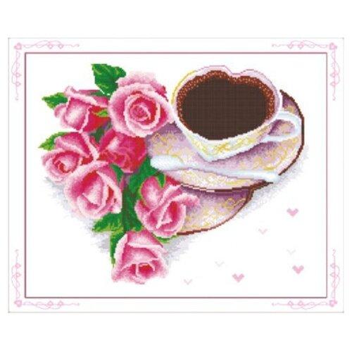 Купить Hobby & Pro Набор для вышивания Кофе для любимой 37 х 30 см (S-024), Наборы для вышивания