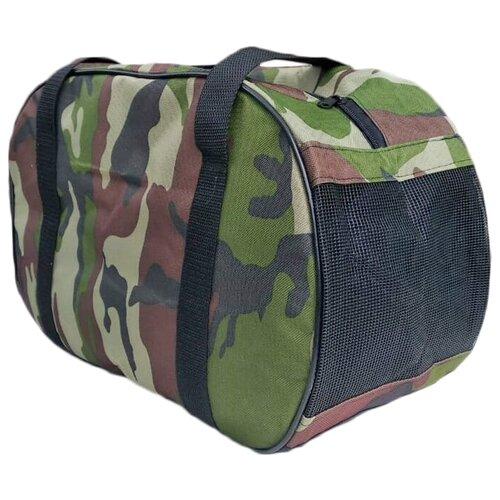 Переноска-сумка для собак Теремок СП-4 40х21х27 см зеленый камуфляжТранспортировка, переноски<br>