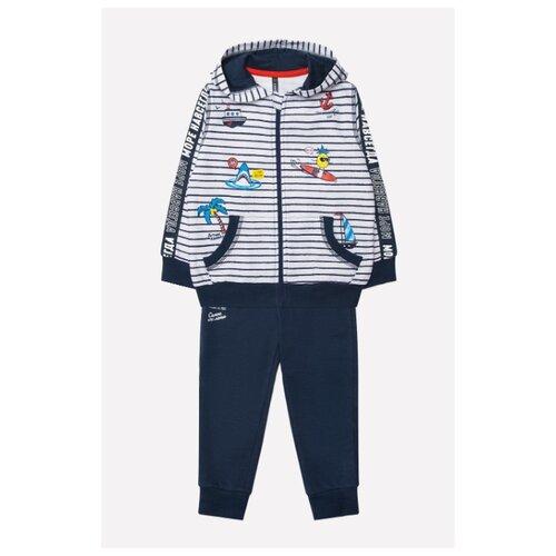 Купить Комплект одежды crockid размер 68, белый/темно-синий, Комплекты