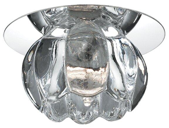 """Светильник встраиваемый Novotech """"Crystal"""", диаметр: 65 мм, G4, 12 В, 20 Вт (цвет: хром)"""