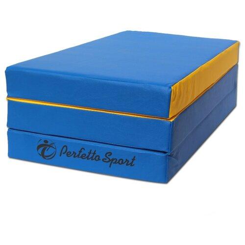 Спортивный мат 1500х1000х100 мм Perfetto Sport № 4 сине/жёлтый