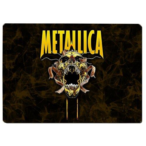 Коврик для мыши Metallica Череп желтый