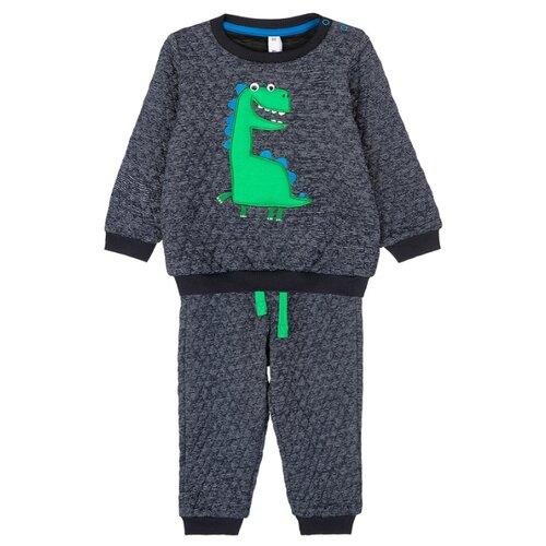 Комплект одежды playToday размер 74, темно-синий комплект одежды playtoday размер 74 темно синий серый