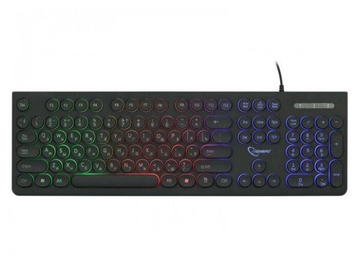 Клавиатура Gembird KB-240L Black USB — купить по выгодной цене на Яндекс.Маркете