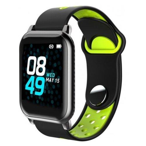 Купить Умные часы BandRate Smart BRSKY1111 черный/зеленый