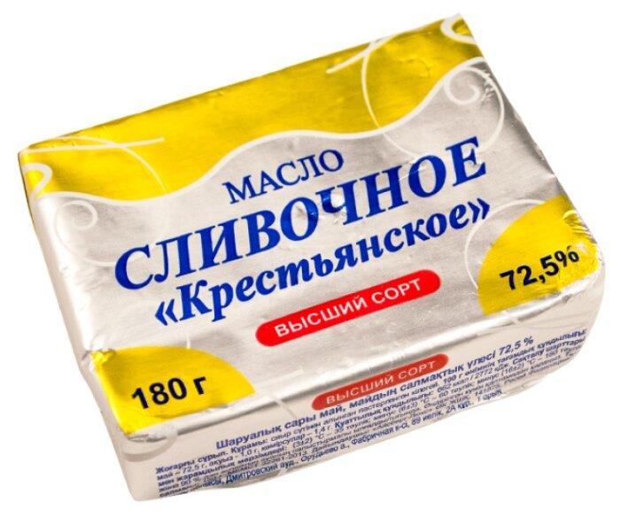 Айсберг-люкс Масло сливочное Крестьянское 72.5%, 180 г