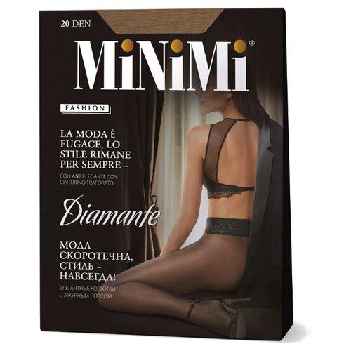 Колготки MiNiMi Diamante 20 den, размер 3-M, caramello (бежевый) колготки minimi slim control 20 den размер 3 m caramello бежевый
