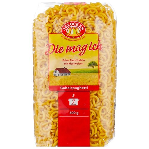 3 Glocken Макароны Die mag ich Gabelspaghetti, 500 г цена 2017