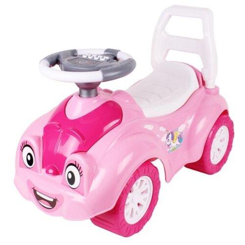 Фото - Каталка-толокар ТехноК Автомобиль для прогулок (6658) розовый каталки технок автомобиль для прогулок т6665